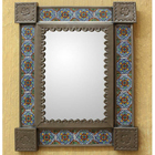 Ceramic Talavera Wall Mirror - Mexico