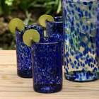 Handblown Drinking Glasses - Marine (Set of 6)