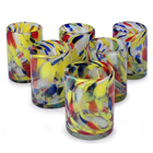 Blown Glass Tumblers - Liquid Confetti (Set of 6)