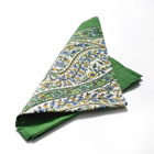 Green Paisley Napkins (Set of 4)