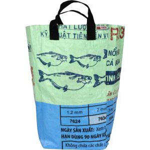 Recycled Square Storage Bag - Kiwi Ocean