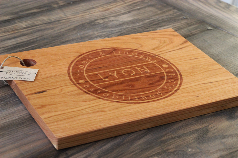 Custom Engraved Wood Cutting Boards Family Circle RC