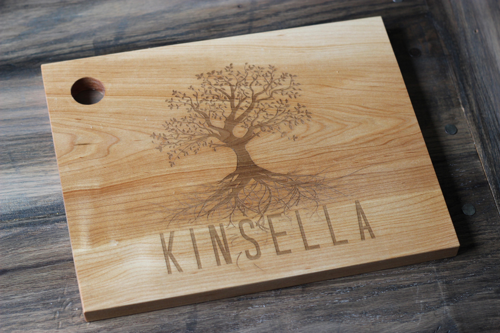 Personalized Wood Cutting Board Family Tree RC TREE
