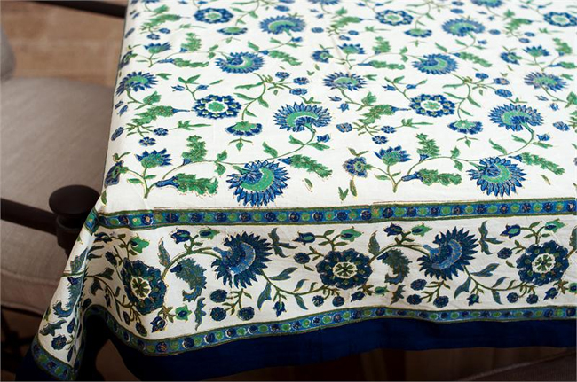 French Blue Tablecloths 69 95 Fair Trade Gifts