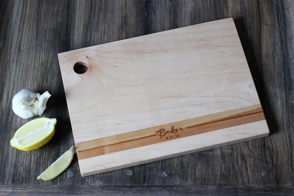 Personalized Modern Wood Cutting Board RC MODERN 5500 Fair