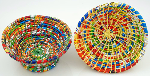 Medium Recycled Plastic Bowl Fair Trade Gifts Seven