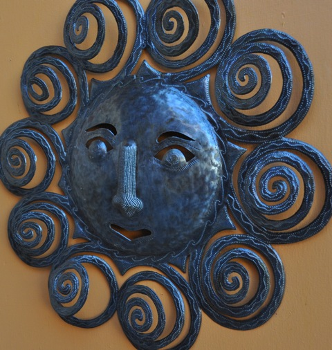 Spiral sun haitian wall art rnd fair trade