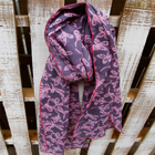 Batik Scarf - Gray and Pink
