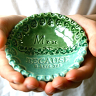 Personalized Ring Dish - Because I Love You