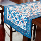 Blue Daphne Table Runner