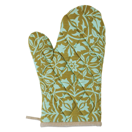 oven mitts saying   just b.CAUSE
