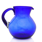 Cobalt Blue Glass Pitcher - Mexico