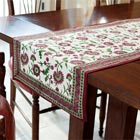Crimson Aster Table Runner