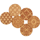 Recycled Cork Coaster Set - Classic Demask