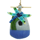 Big Dragonfly Felted Birdhouse