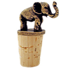 Antiqued Elephant Wine Bottle Cork