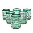 Emerald Spiral Tumblers (set of 6)