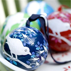Eva Hand Painted Paper Mache Ornaments