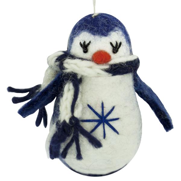 Felt Penguin Ornament- Navy [471138017]