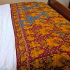 Vintage Sari Throw - Floral Polka Dot