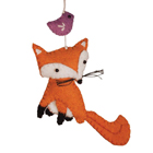 Hand-Felted Fox Ornament