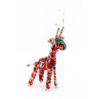Recycled Pop Can Giraffe Ornament
