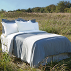 glo Organic Sateen Pleated Duvet Covers and Shams