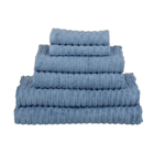 glo Stripe Faded Denim Bath Towels