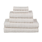 glo Stripe Natural Bath Towels