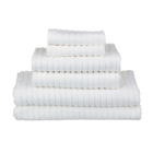 glo Stripe White Bath Towels