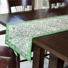 Green Paisley Table Runner