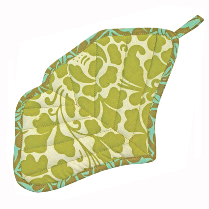 Green Ginkgo Pot Holder