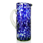 Hand Blown Glass Pitcher - Marine