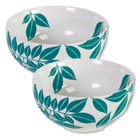 Java Porcelain Bowls - Teal (Set of 4)