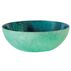 Large Capiz Bowl Teal