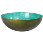 Large Capiz Bowl - Olive Teal