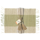 Olive Green Vetiver Placemats (Set of 6)