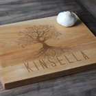 Personalized Wood Cutting Board - Family Tree