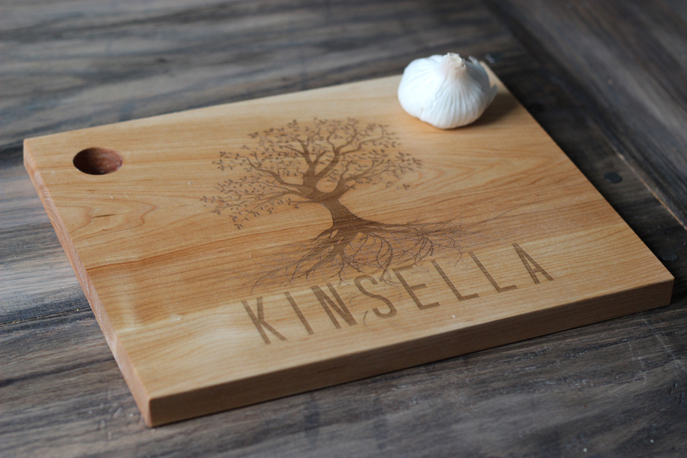 personalized wood cutting board  family tree [rctree]  ., Kitchen design