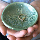 Personalized Floral Ring Dish