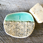 Personalized Initial Soap Dish