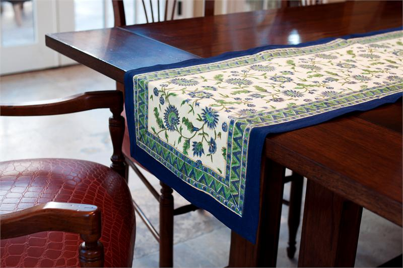 French Blue Table Runner 233 4000 Fair Trade Gifts
