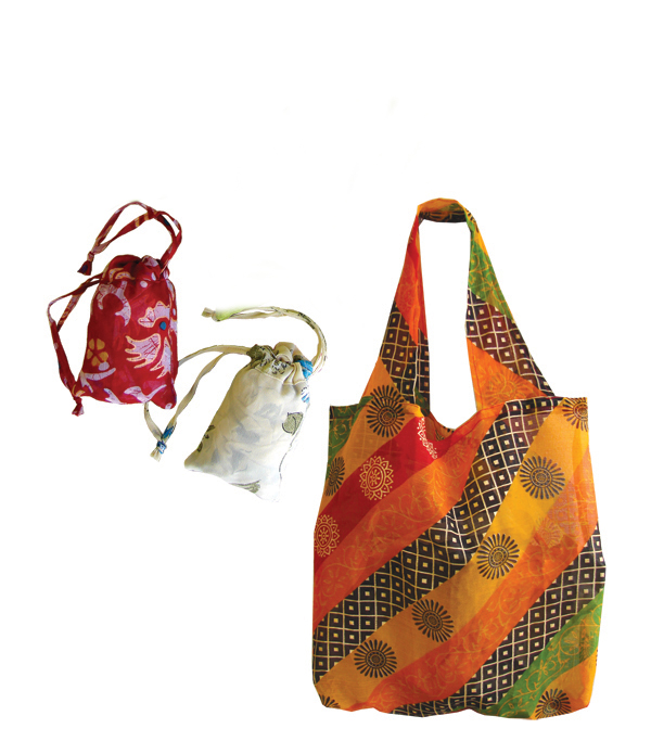 Recycled Sari Market Bag