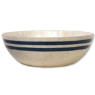 Large Sea Stripe Capiz Bowl