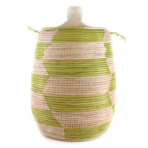 Green African Laundry Hamper