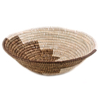 Brown and White Wolof African Basket
