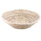 White Wolof Prayer Mat Basket