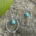 Sterling Silver Earrings with Turquoise Drops