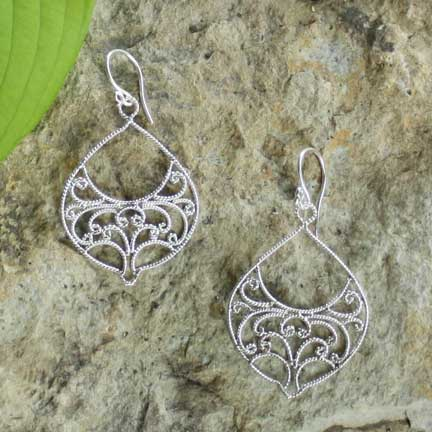 Lyrical Filigree Earrings
