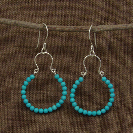 Encircled Turquoise Earrings